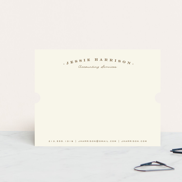 """""""Classica"""" - Classical, Formal Personalized Stationery in Pinecone by Leah Bisch."""