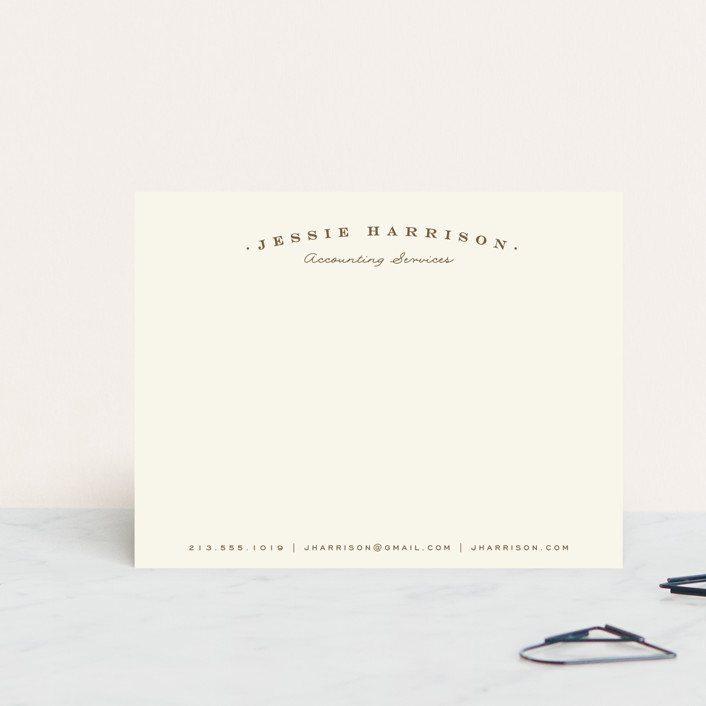 """Classica"" - Classical, Formal Personalized Stationery in Pinecone by Leah Bisch."