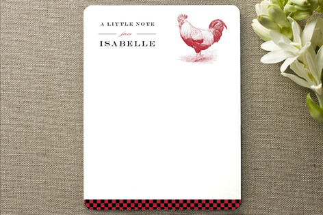 Red Rooster Personalized Stationery