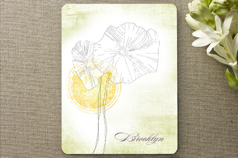 Parchment Flower Personalized Stationery