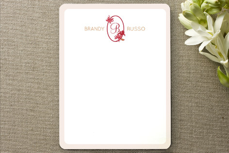 Bloom Monogram Personalized Stationery