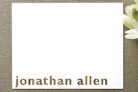 Jonathan Allen Personalized Stationery