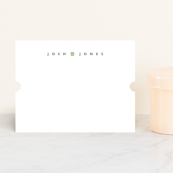 """""""simple name"""" - Simple, Classical Personalized Stationery in Fir by kelli hall."""