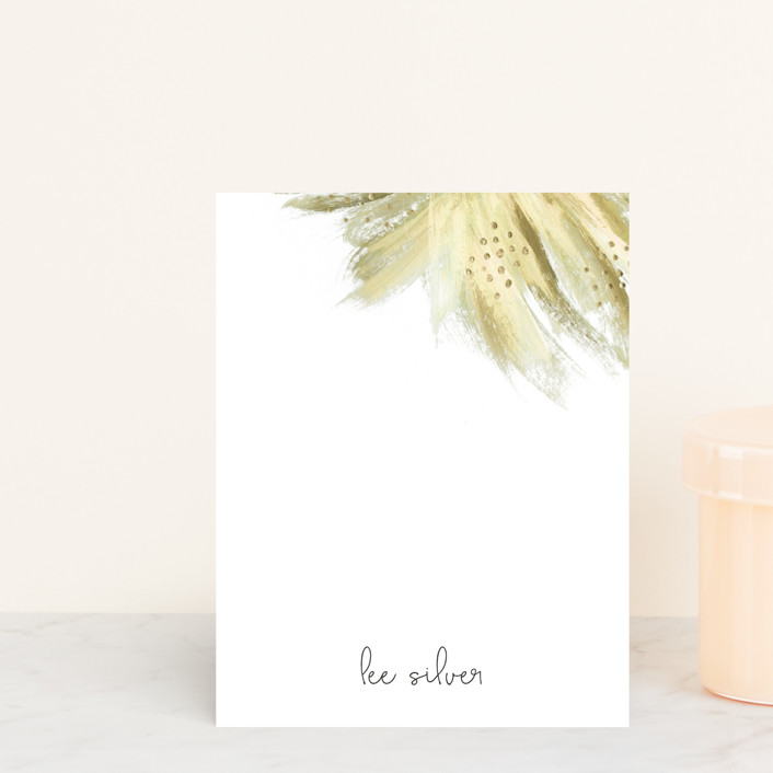 """""""Shining Statement"""" - Floral & Botanical Personalized Stationery in Periwinkle by Simona Camp."""