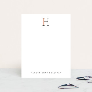 Simple Initial Personalized Stationery