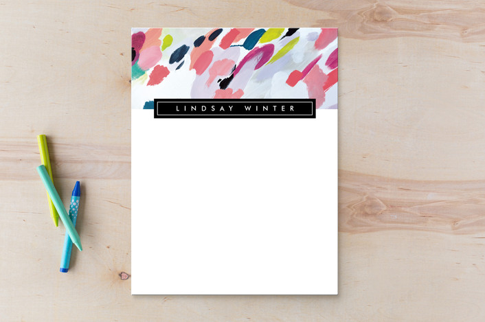 """Stella Multi"" - Whimsical & Funny Personalized Stationery in Fuchsia by Julie Murray."