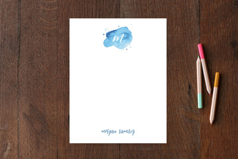 Watercolor Mark Personalized Stationery