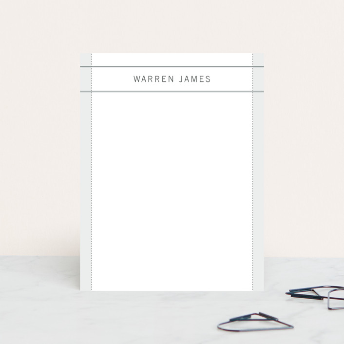 """warren"" - Classical, Traditional Personalized Stationery in White Haze by Andrea Snaza."
