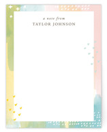 This is a blue mothers day gifts stationery by Shirley Lin Schneider called Painterly Border with standard printing on signature.