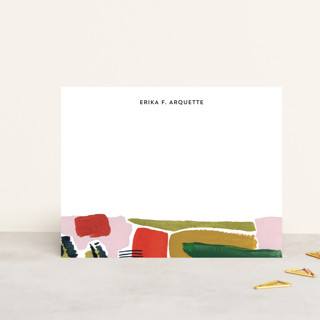 Abstract Redtop Personalized Stationery