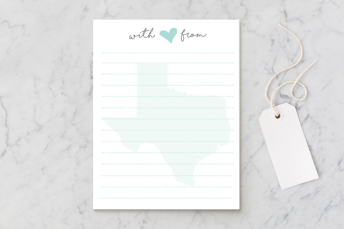"""""""with love from..."""" - Personalized Stationery in Ice by Sara Curtis."""