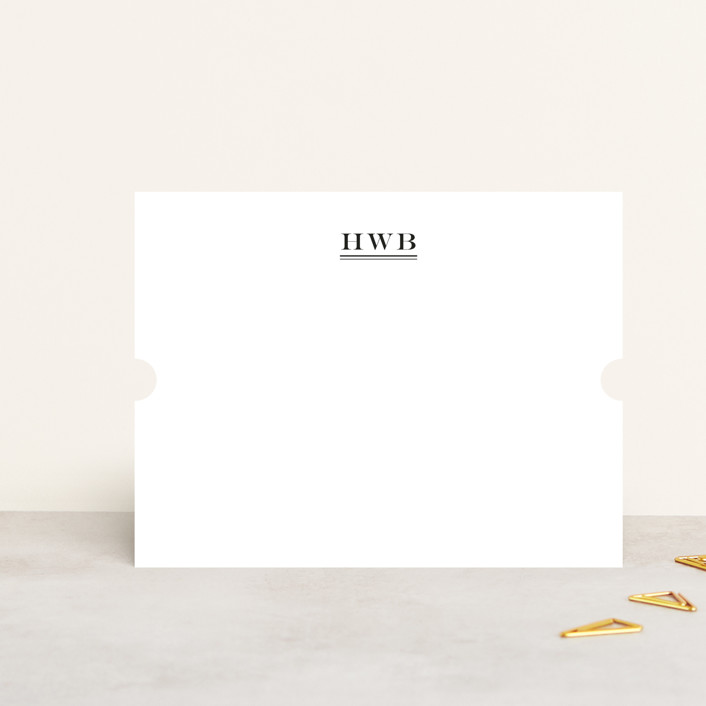 """""""Ascot"""" - Monogrammed, Simple Personalized Stationery in Cadet Blue by Toast & Laurel."""