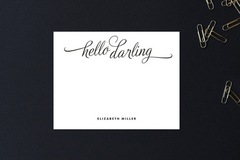 Hello Darling Personalized Stationery