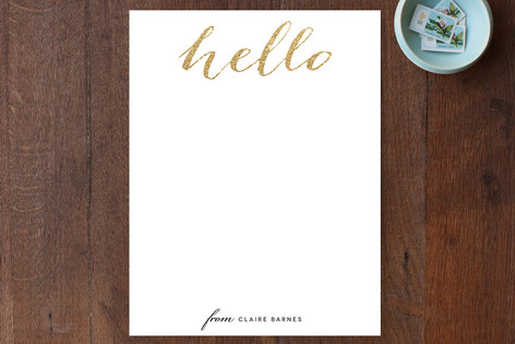 Hello Friend Personalized Stationery