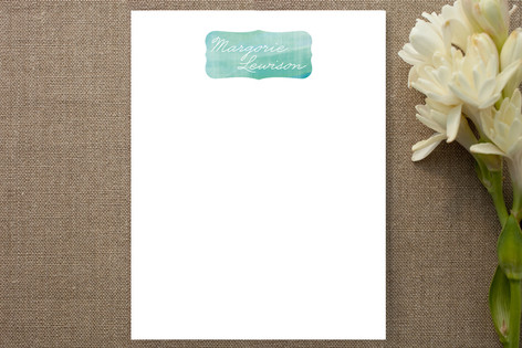 Soft Watercolor Personalized Stationery