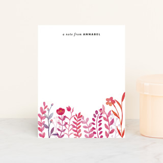 Handpainted Botanicals Personalized Stationery