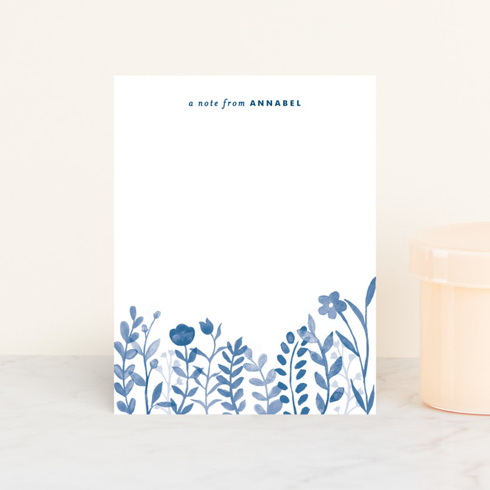 """""""Handpainted Botanicals"""" - Floral & Botanical Personalized Stationery in Fuchsia by Hooray Creative."""