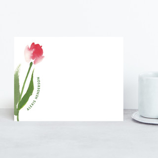A Tulip Just For You Personalized Stationery