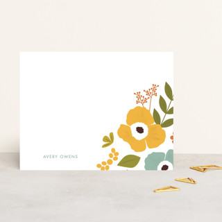 Big Floral Personalized Stationery
