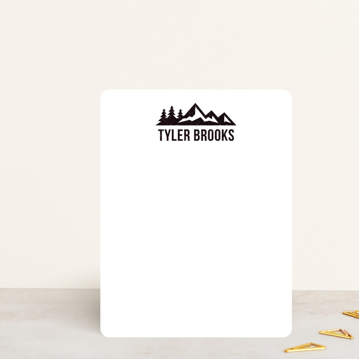 """""""Lost In The Wilderness"""" - Rustic, Modern Personalized Stationery in Midnight by Heather DeLong."""