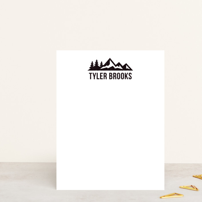 """""""Lost In The Wilderness"""" - Rustic Personalized Stationery in Midnight by Heather DeLong."""