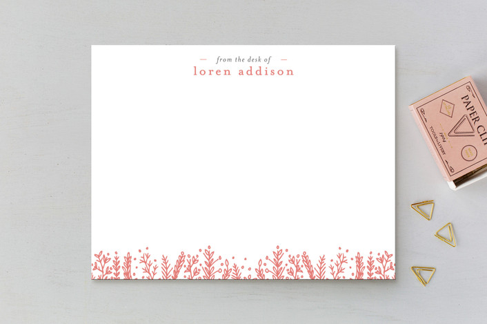 """Meadow"" - Floral & Botanical Personalized Stationery in Petal by Bethan."