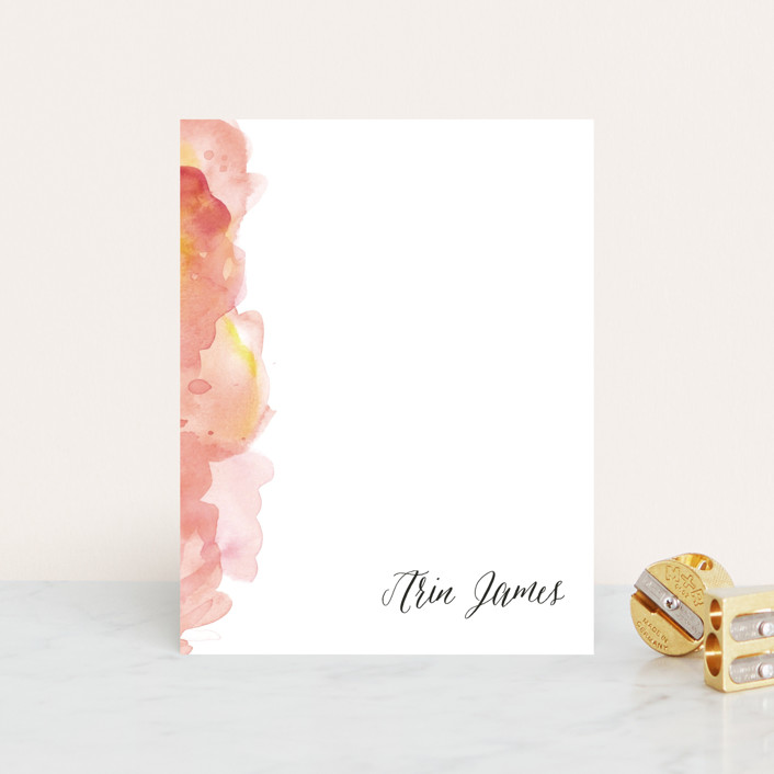 """Modern Calligraphy"" - Personalized Stationery in Cherry by Megan Lusher Photography."