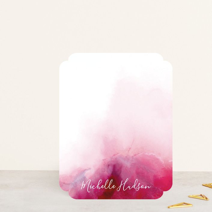 """""""Vivid Mind"""" - Whimsical & Funny Personalized Stationery in Magenta by Petra Kern."""