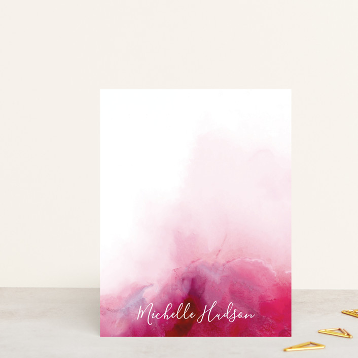 """""""Vivid Mind"""" - Personalized Stationery in Magenta by Petra Kern."""