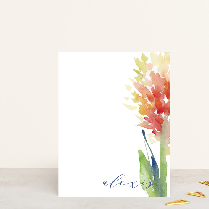 """Big Bloom"" - Personalized Stationery in Petal by sue prue."