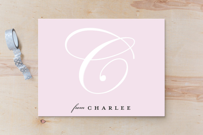 """""""Port Monogram"""" - Personalized Stationery in Blush by Kate Ross."""