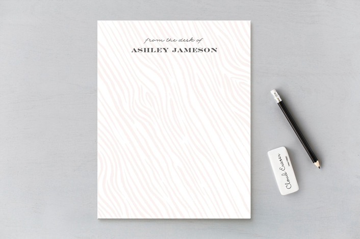 """Anais"" - Personalized Stationery in Peach by Paper Raven Co.."