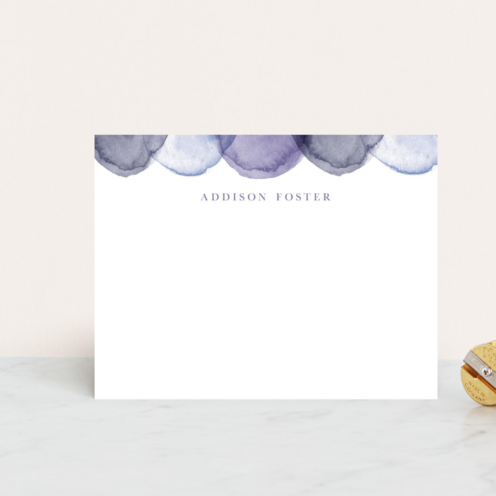 """water scallop"" - Personalized Stationery in Waves by Pixel and Hank."