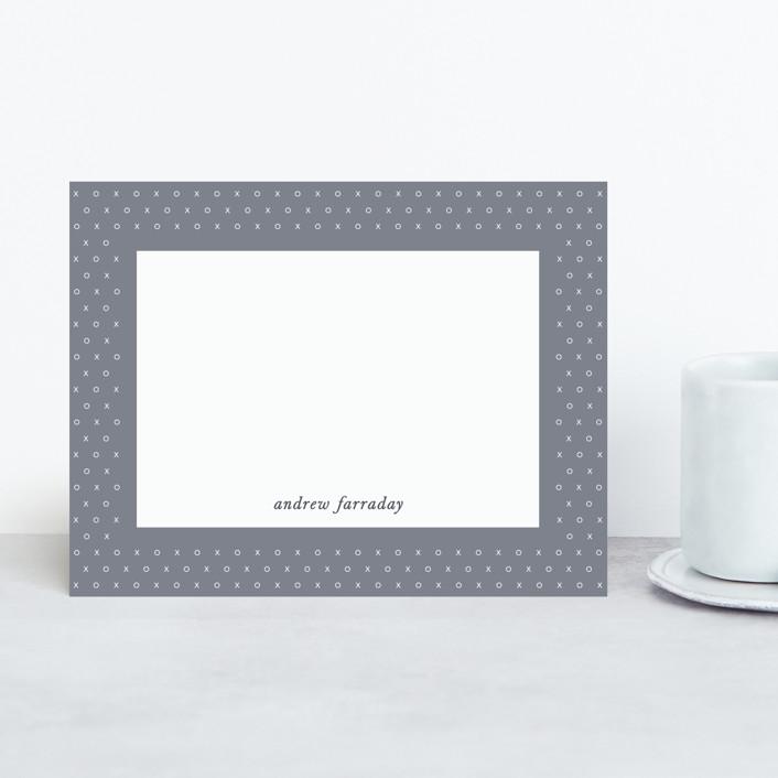 """XO"" - Personalized Stationery in Slate by Gwen Bedat."