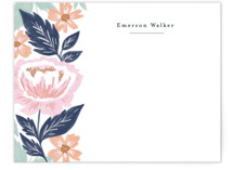 This is a blue mothers day gifts stationery by Alethea and Ruth called Peony Floral Vine with standard printing on signature.