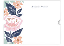 This is a blue mothers day gifts stationery by Alethea and Ruth called Peony Floral Vine with standard printing on signature in 4.25x5.5.