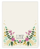 This is a beige mothers day gifts stationery by The Little Fox Studio called Notes of Fauna with standard printing on signature.