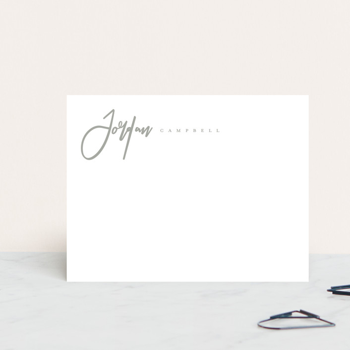 """""""Classic Script"""" - Modern Personalized Stationery in Ink by peony papeterie."""