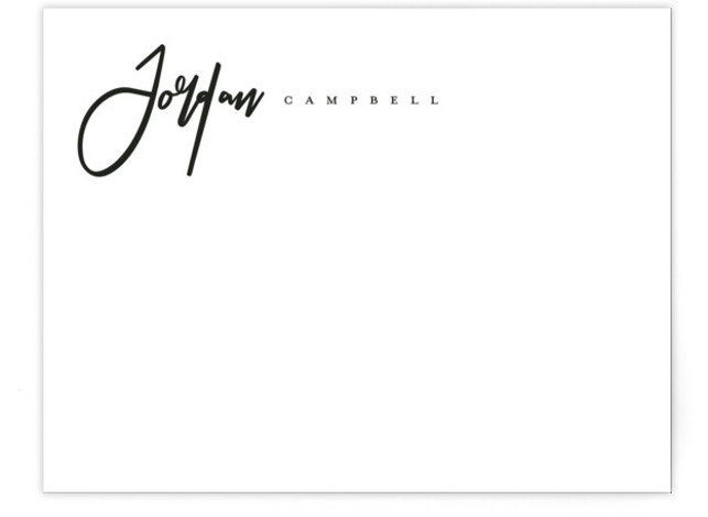 Classic Script Personalized Stationery