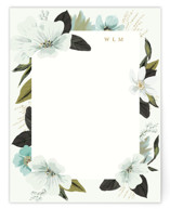 This is a green mothers day gifts stationery by Susan Moyal called Floral Note with standard printing on signature.