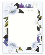 This is a purple mothers day gifts stationery by Susan Moyal called Floral Note with standard printing on signature.