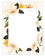 This is a yellow mothers day gifts stationery by Susan Moyal called Floral Note with standard printing on signature.