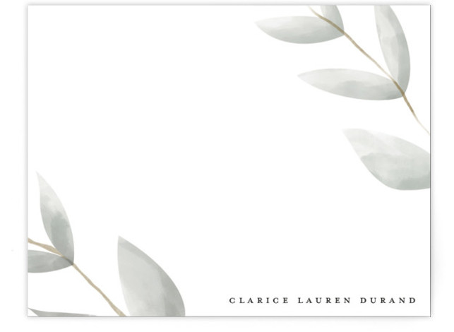 modern leaf Personalized Stationery