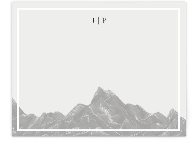 Mountain Range Personalized Stationery