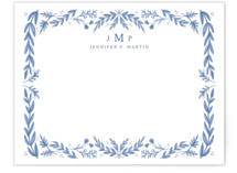 This is a blue mothers day gifts stationery by Heather Cairl called Framed in Floral with standard printing on signature in 4.25x5.5.