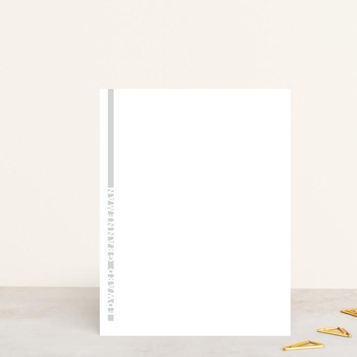 """""""Minimal"""" - Modern, Preppy Personalized Stationery in Concrete by Rosana Laiz Blursbyai."""