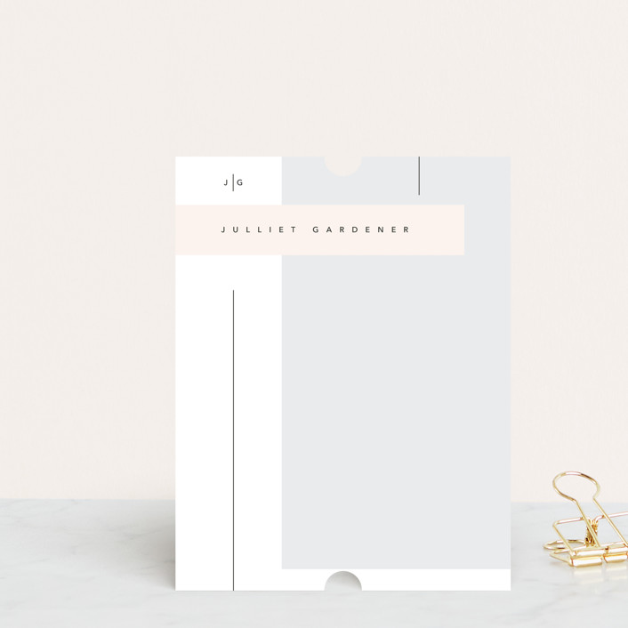 """Rectangles"" - Modern, Preppy Personalized Stationery in Fantasy by David Michuki."