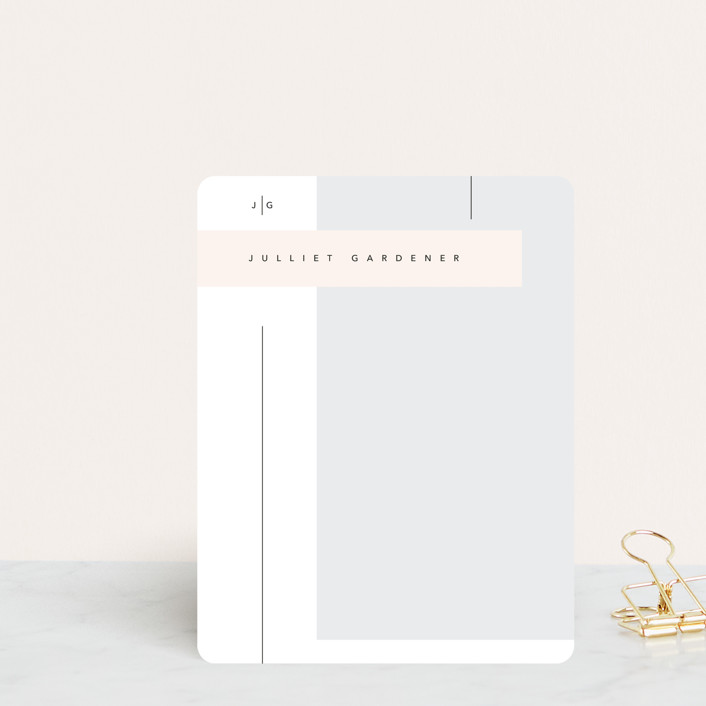 """""""Rectangles"""" - Modern, Preppy Personalized Stationery in Fantasy by David Michuki."""