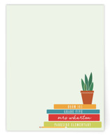 This is a green mothers day gifts stationery by Heather Cairl called A Note From Teacher with standard printing on signature.