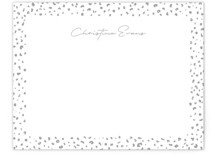 This is a grey mothers day gifts stationery by Lea Delaveris called Just a little wild with standard printing on signature.